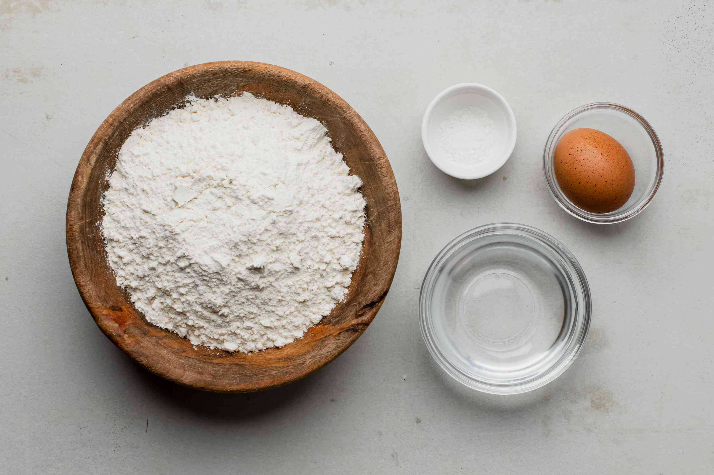 Ingredients for dough