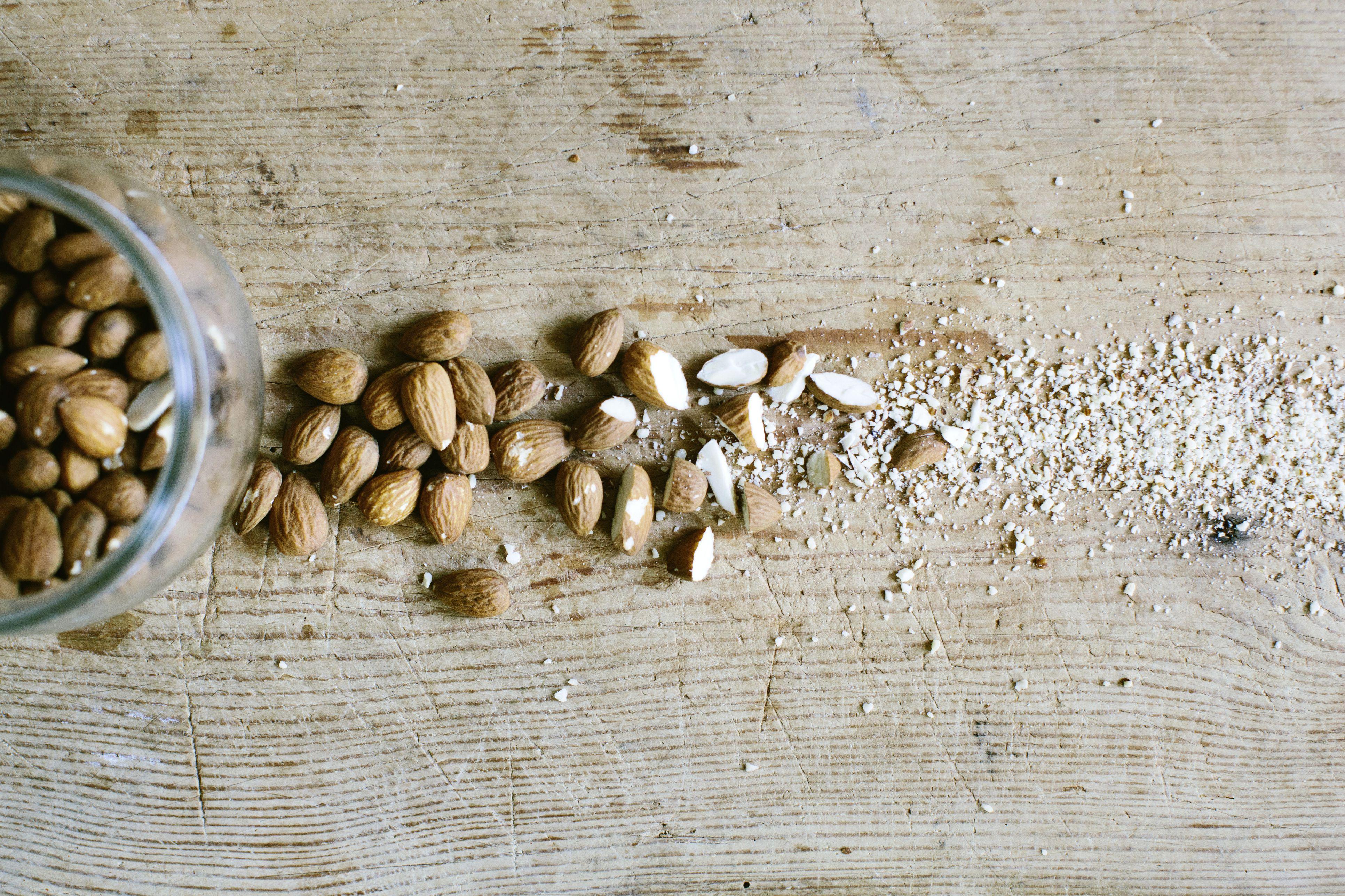 Germany, Berlin, Chopped almonds, close-up