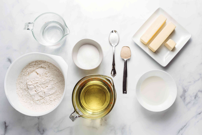 Homemade Cronuts dough ingredients