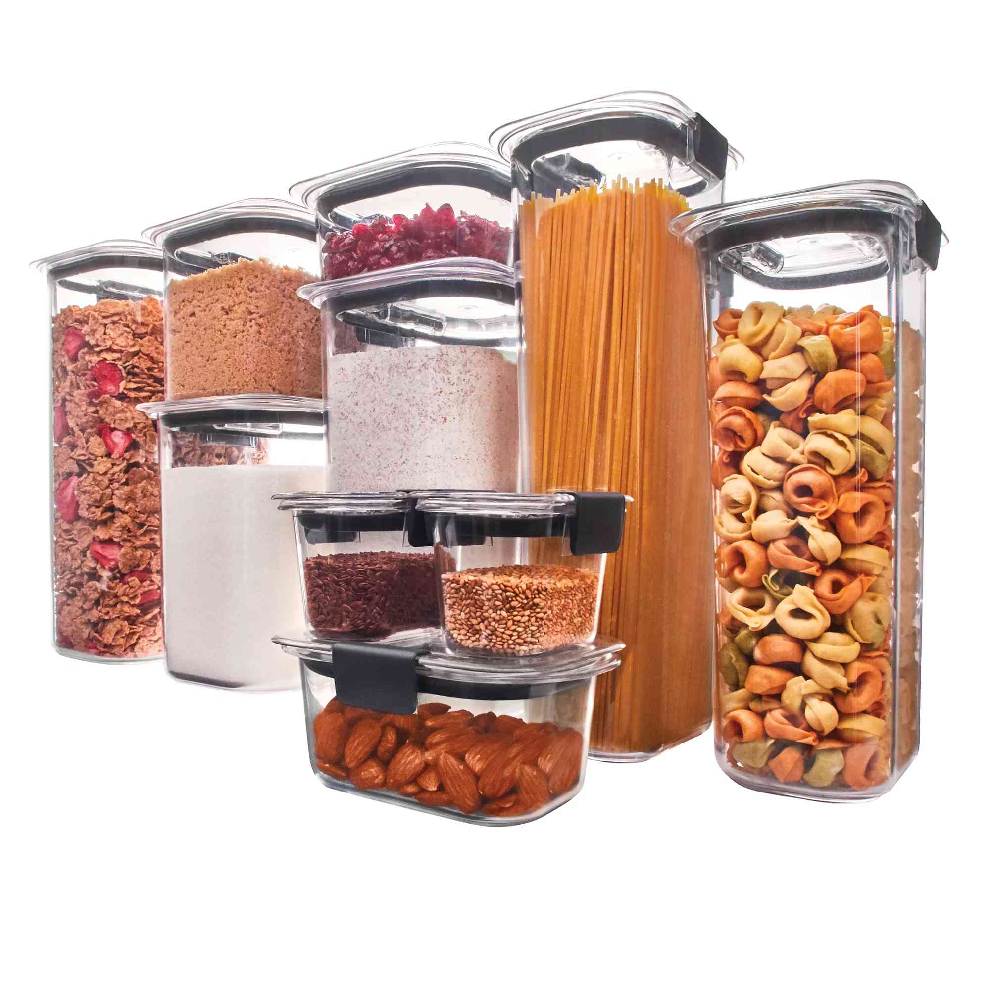 Rubbermaid Brilliance Pantry Organization & Food Storage Containers with Airtight Lids