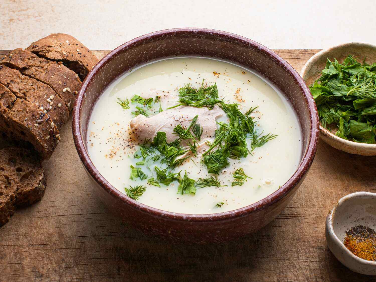 greek egg lemon soup avgolemono soup - Greek Christmas Food