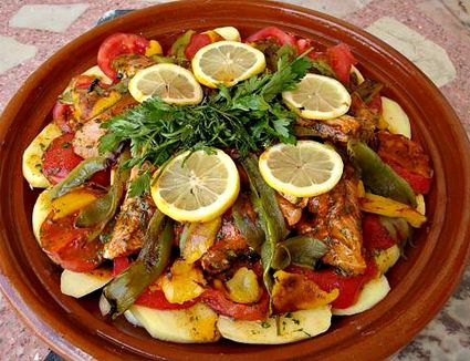 Fish tagine ready to cook
