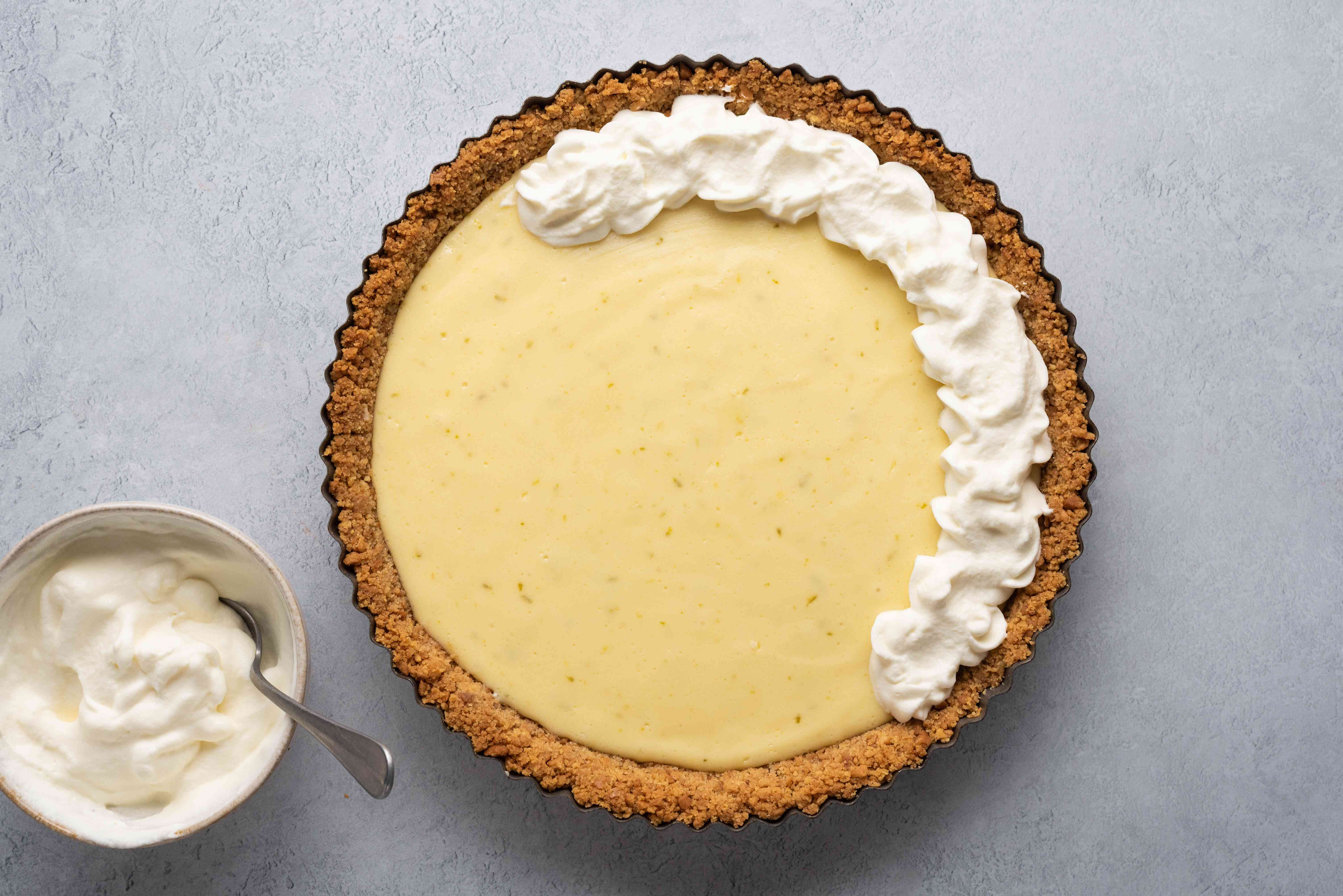 Serve the Easy Key Lime Pie with a dollop of whipped cream