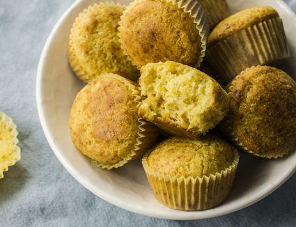 Moist sour cream cornbread muffins