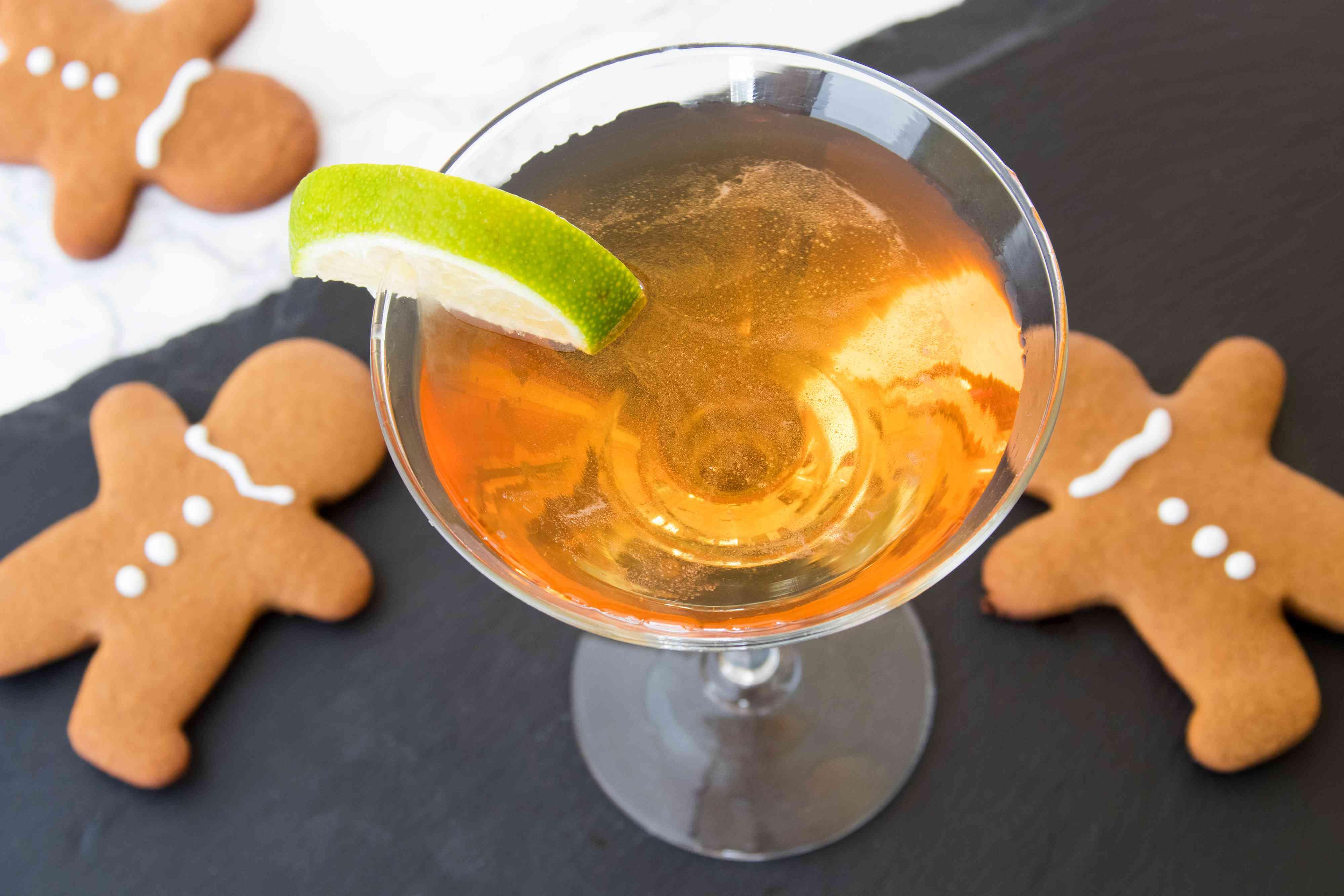 Gingerbread Man-tini Cocktail