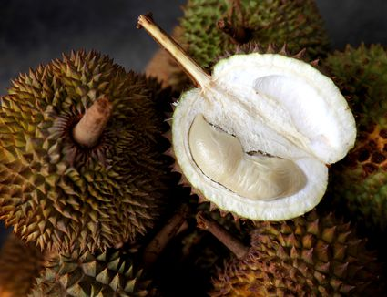 A halved durian