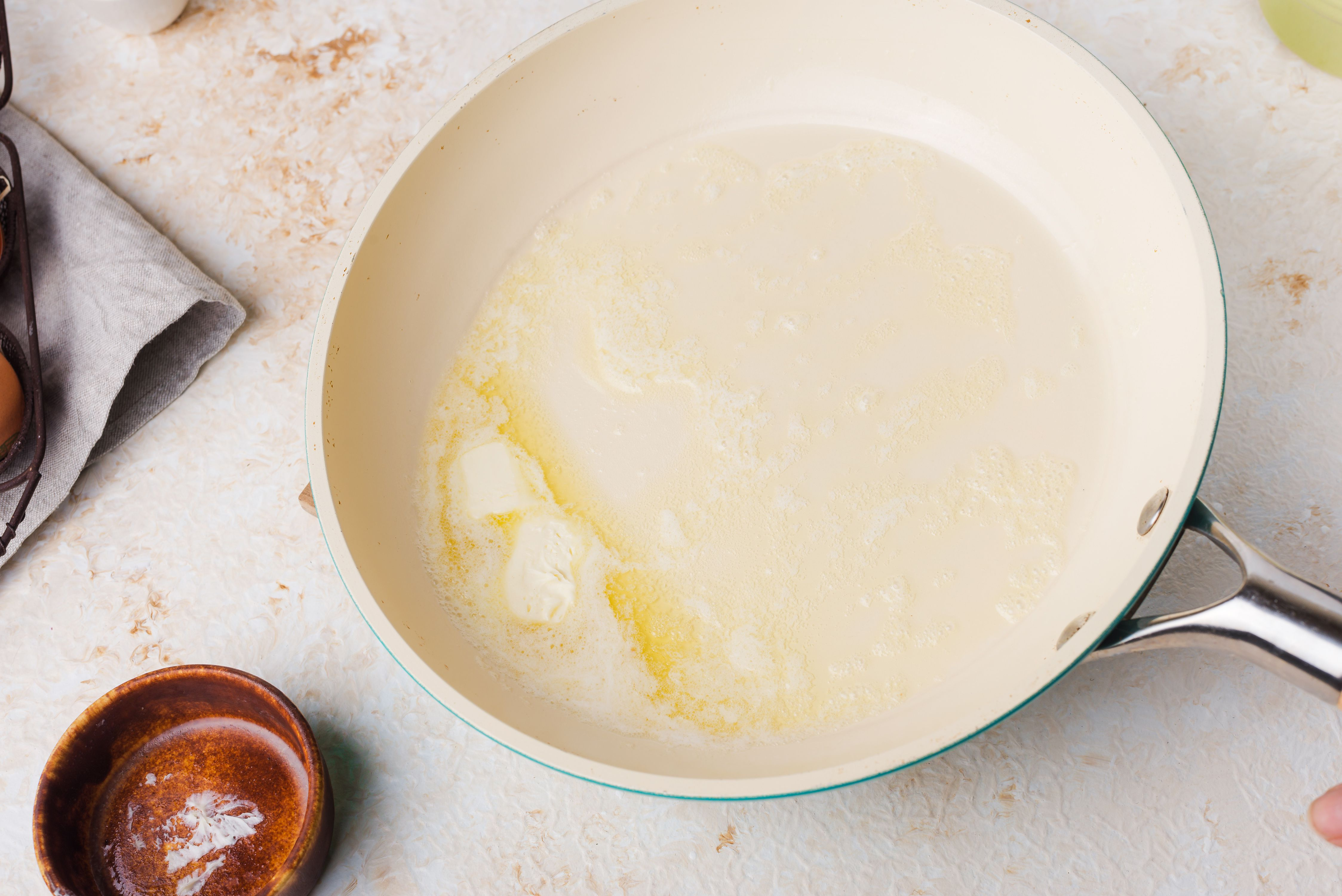 Heat the dairy free margarine