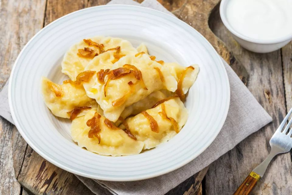 Polish Potato-Cheese Dumplings (Pierogi Ruskie)