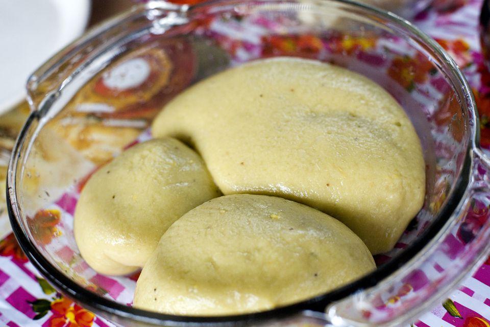 Fufu in a bowl