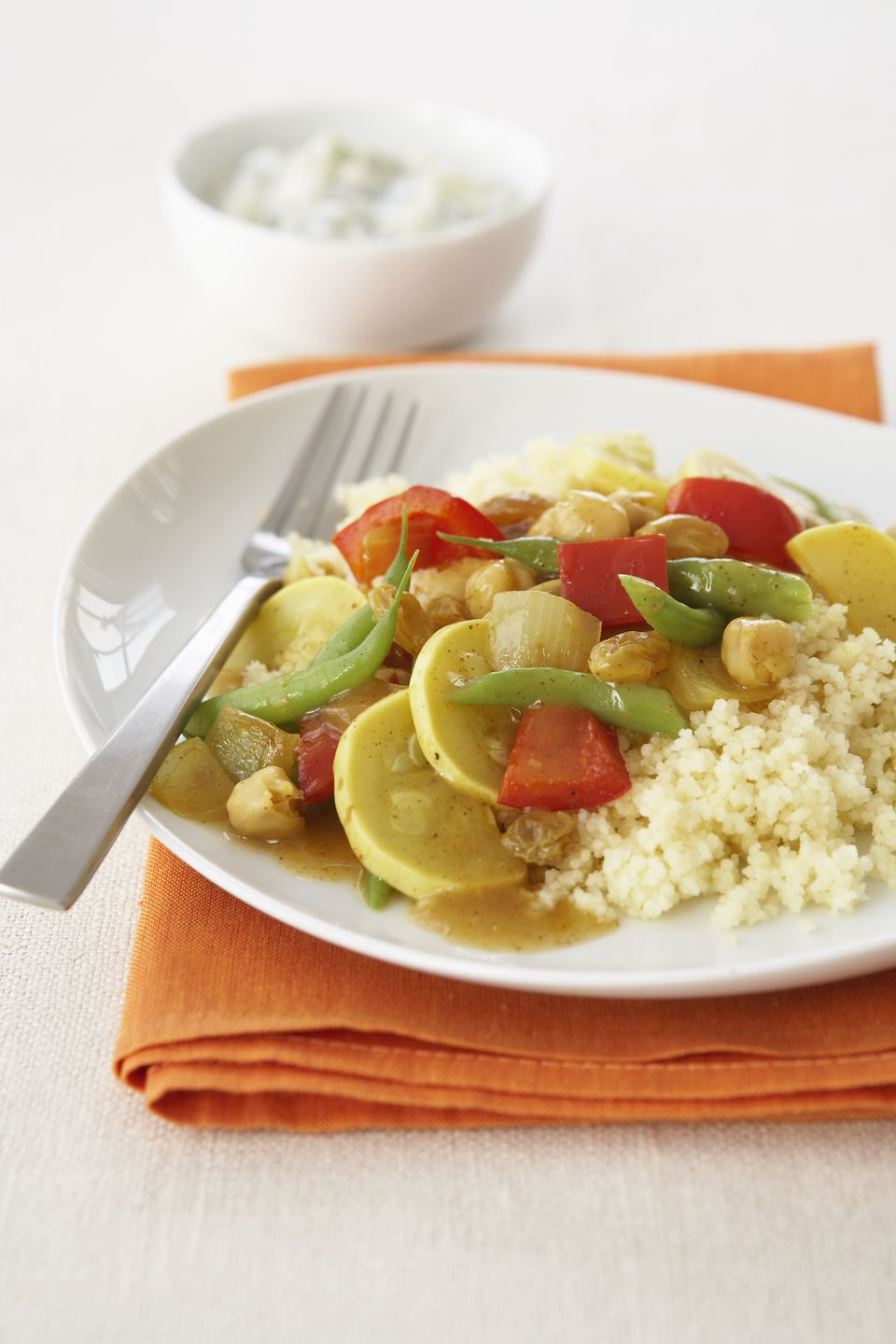 Japanese curry with grilled vegetables