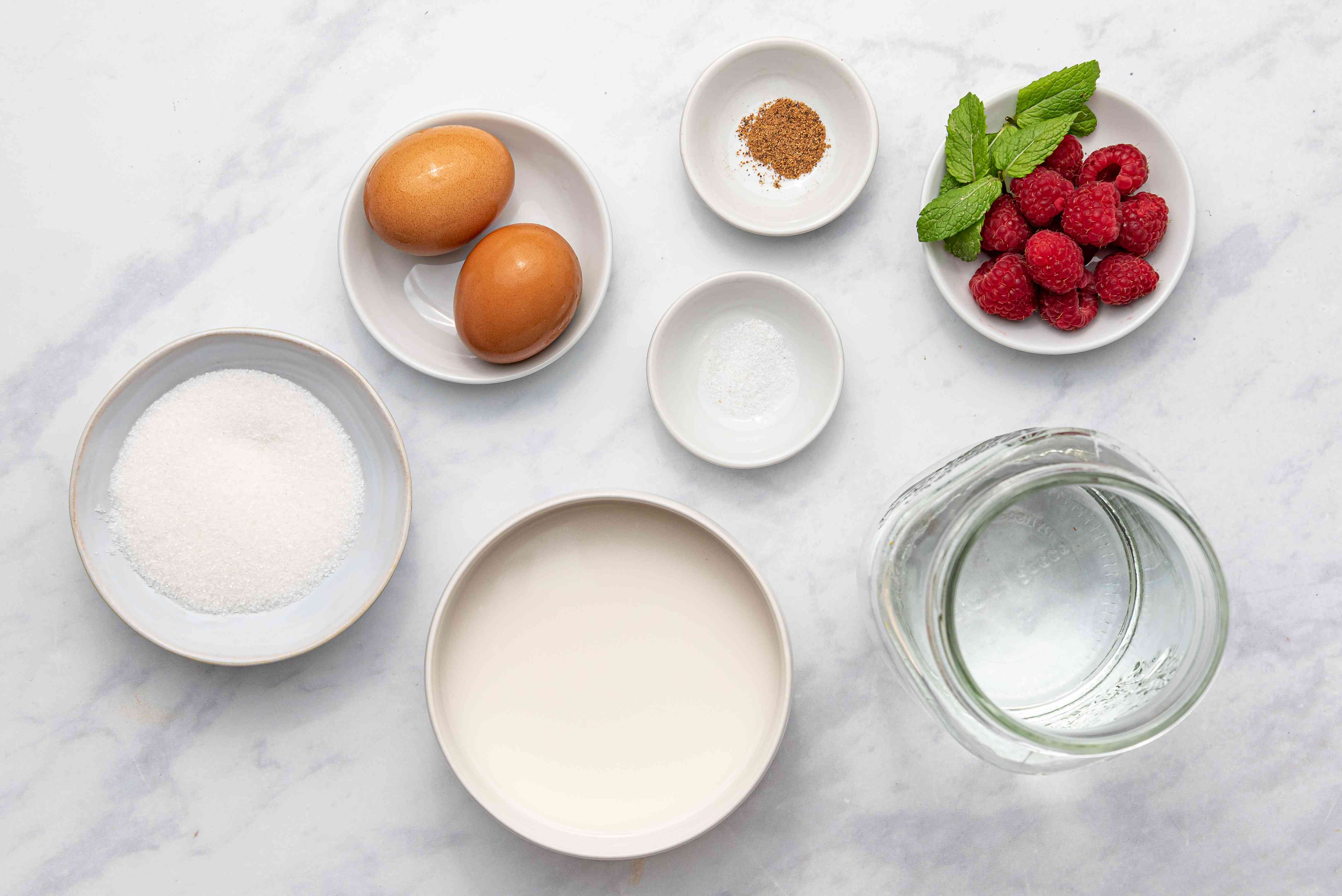 Easy Old-Fashioned Baked Custard ingredients