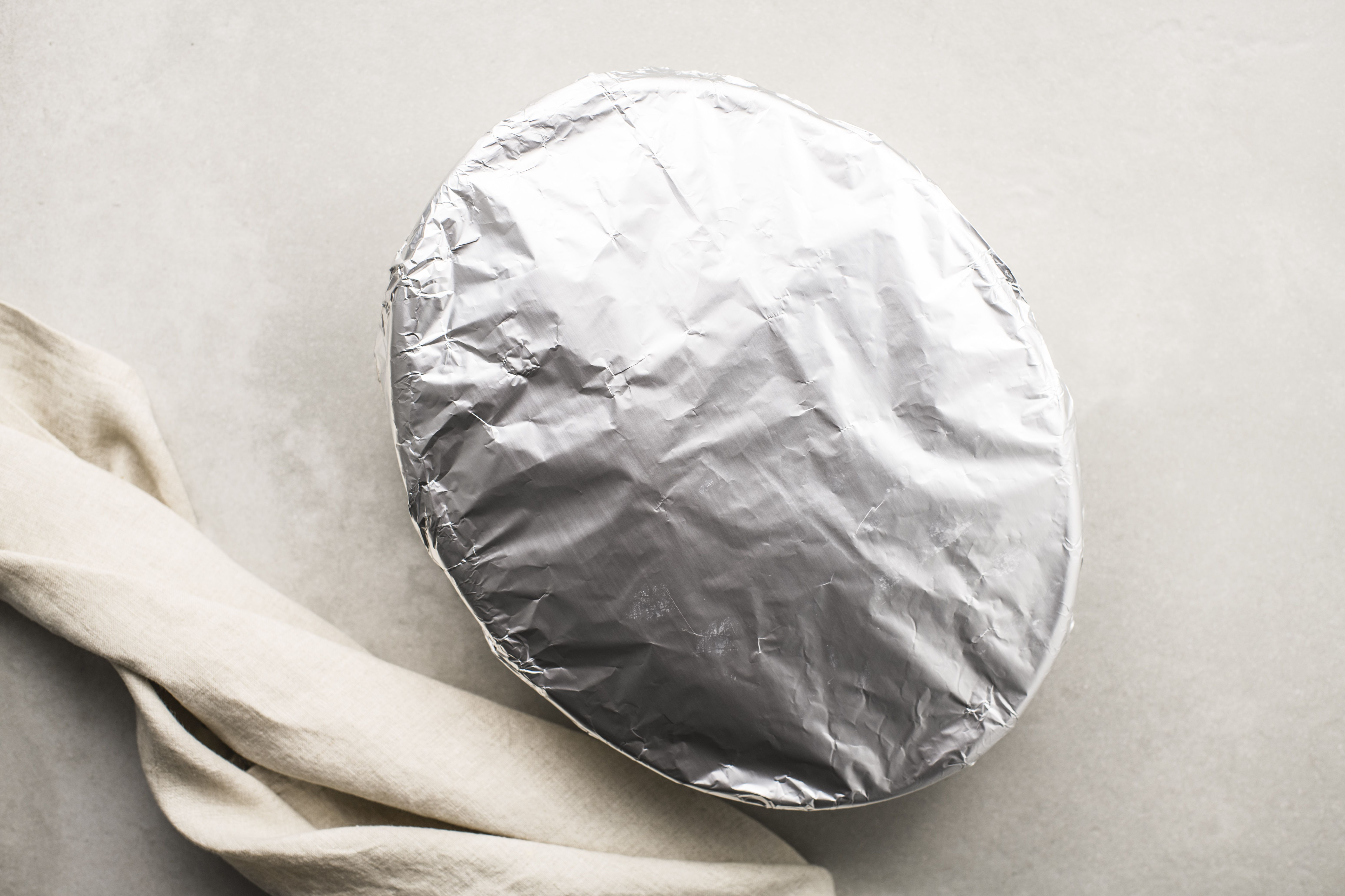 Cover casserole dish with foil