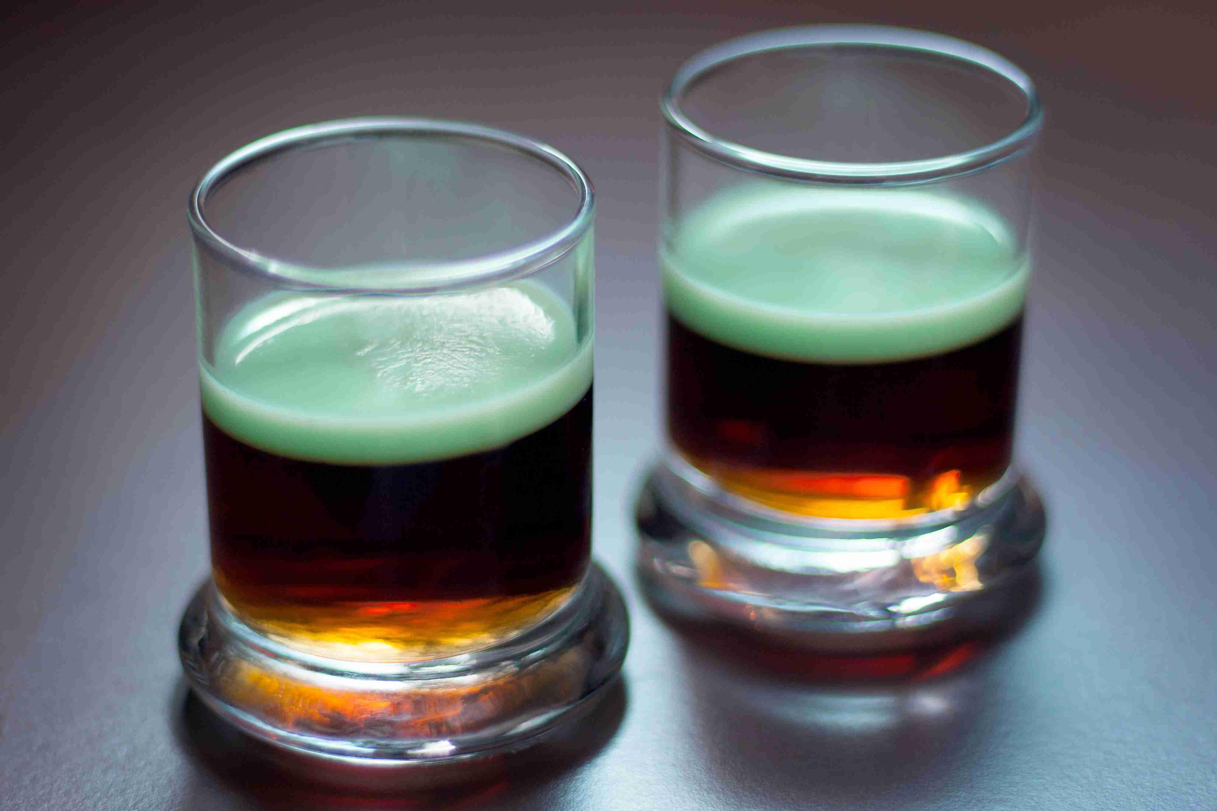 Guinness & Green Jell-O Shots