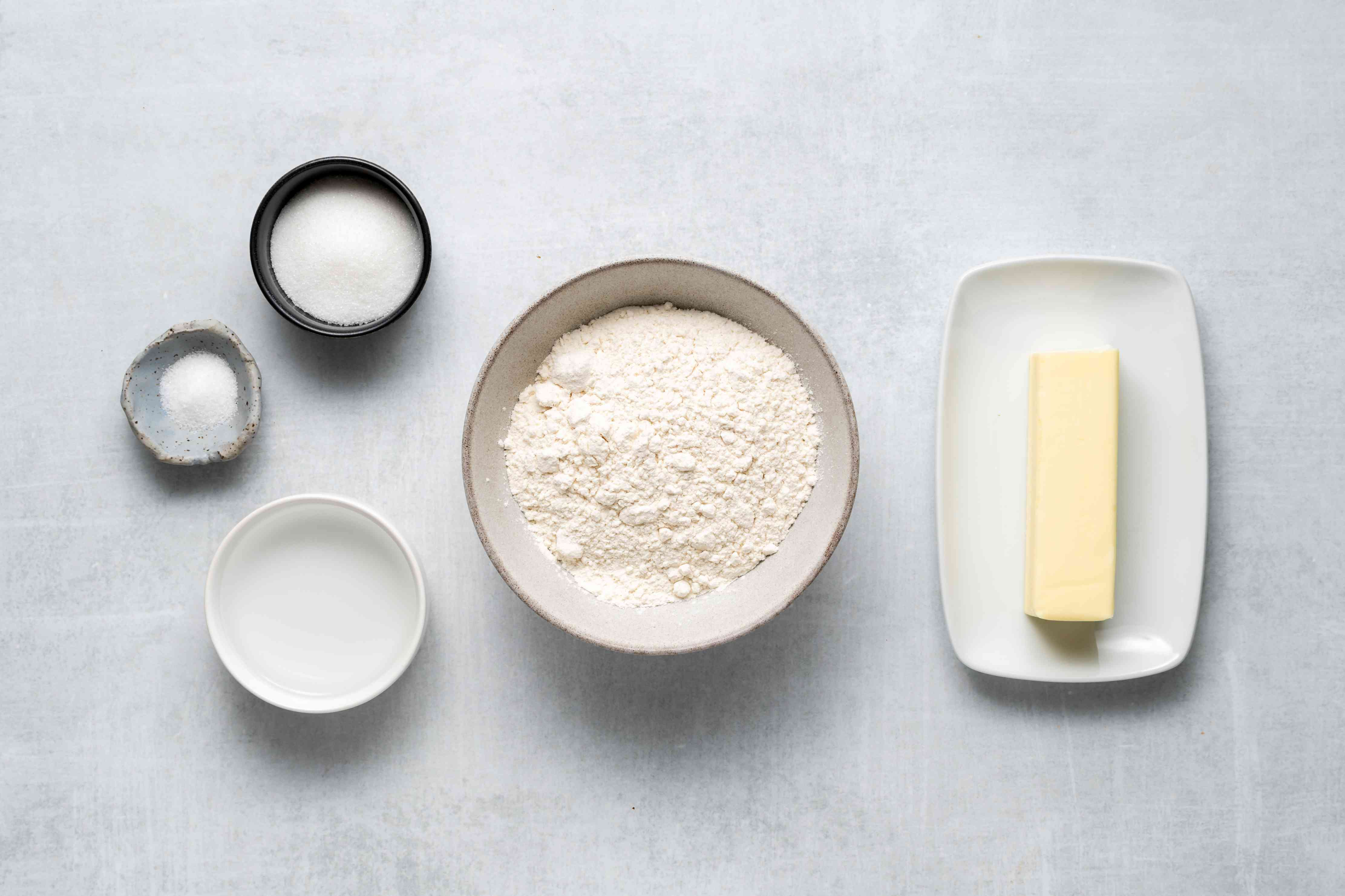 Classic French Tarte Aux Pommes dough ingredients