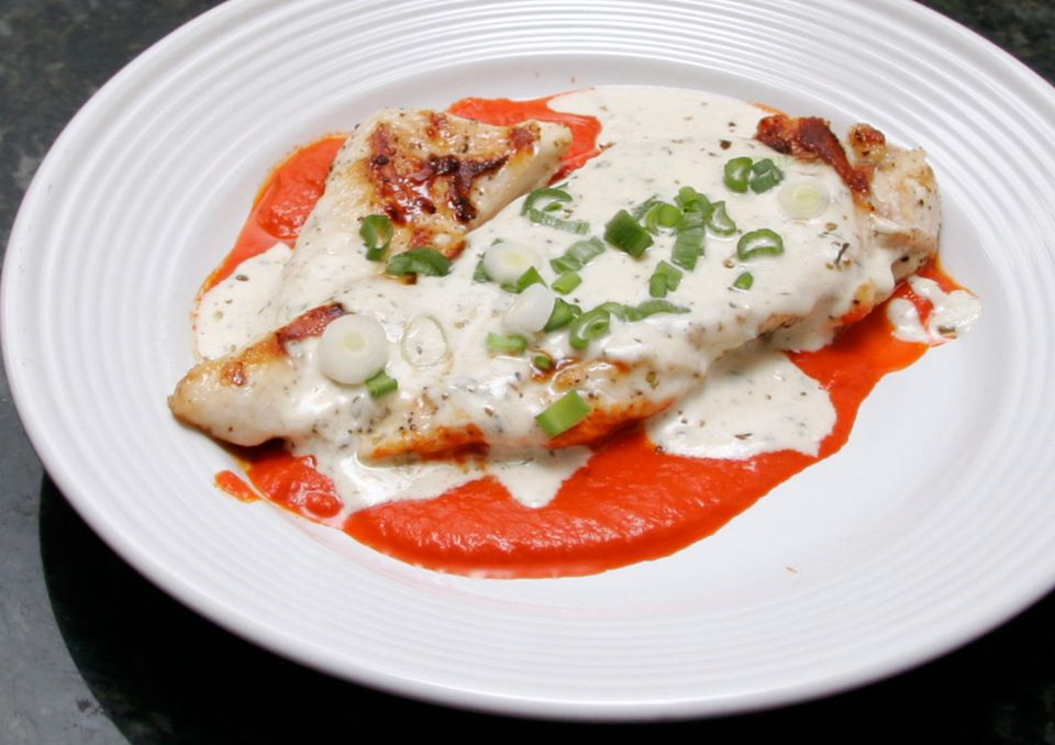Grilled Chicken With Goat Cheese Sauce