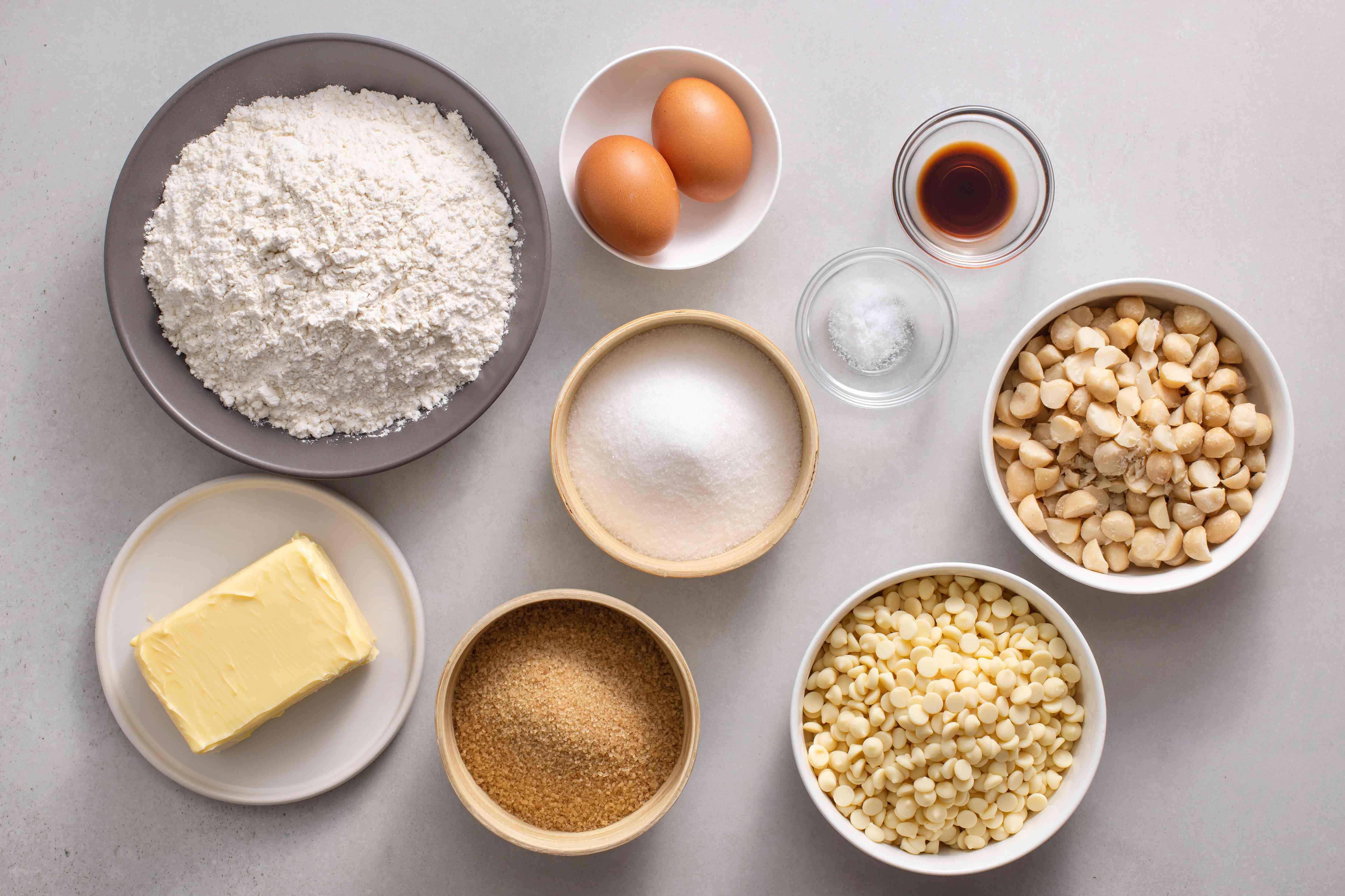 White Chocolate Macadamia Nut Cookies ingredients