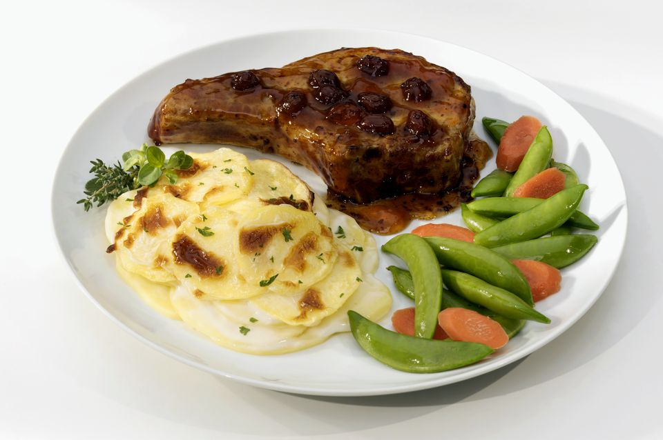 A Pork Chop with Scalloped Potatoes