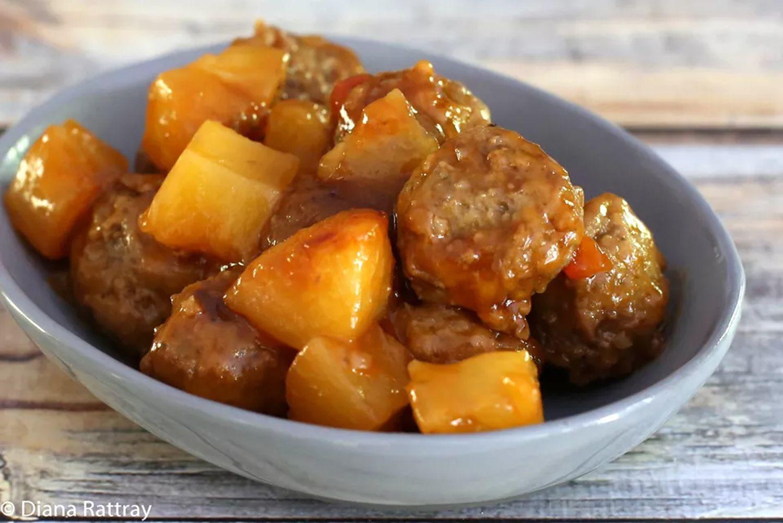 Crock Pot Sweet and Sour Meatballs