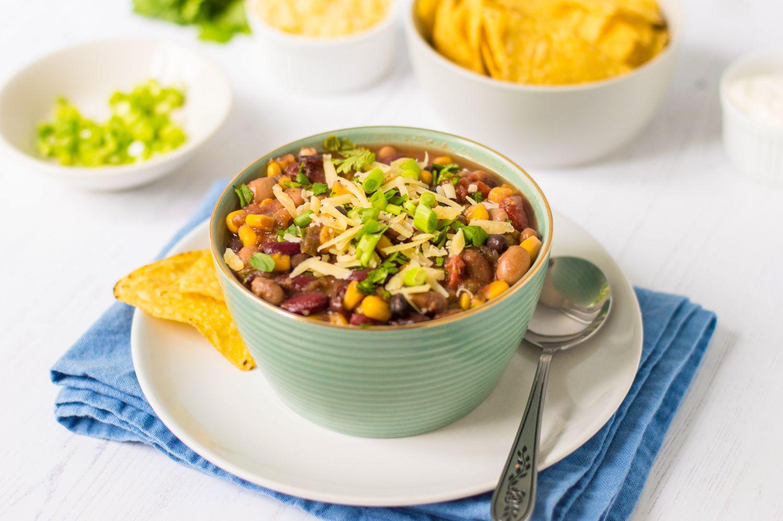 Vegetarian Crockpot Taco Soup I