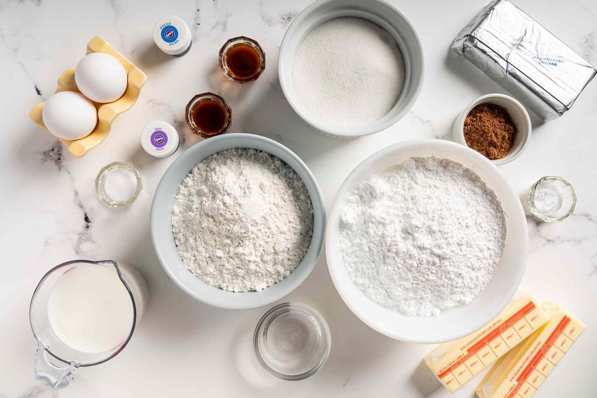 Blue Velvet Cake ingredients