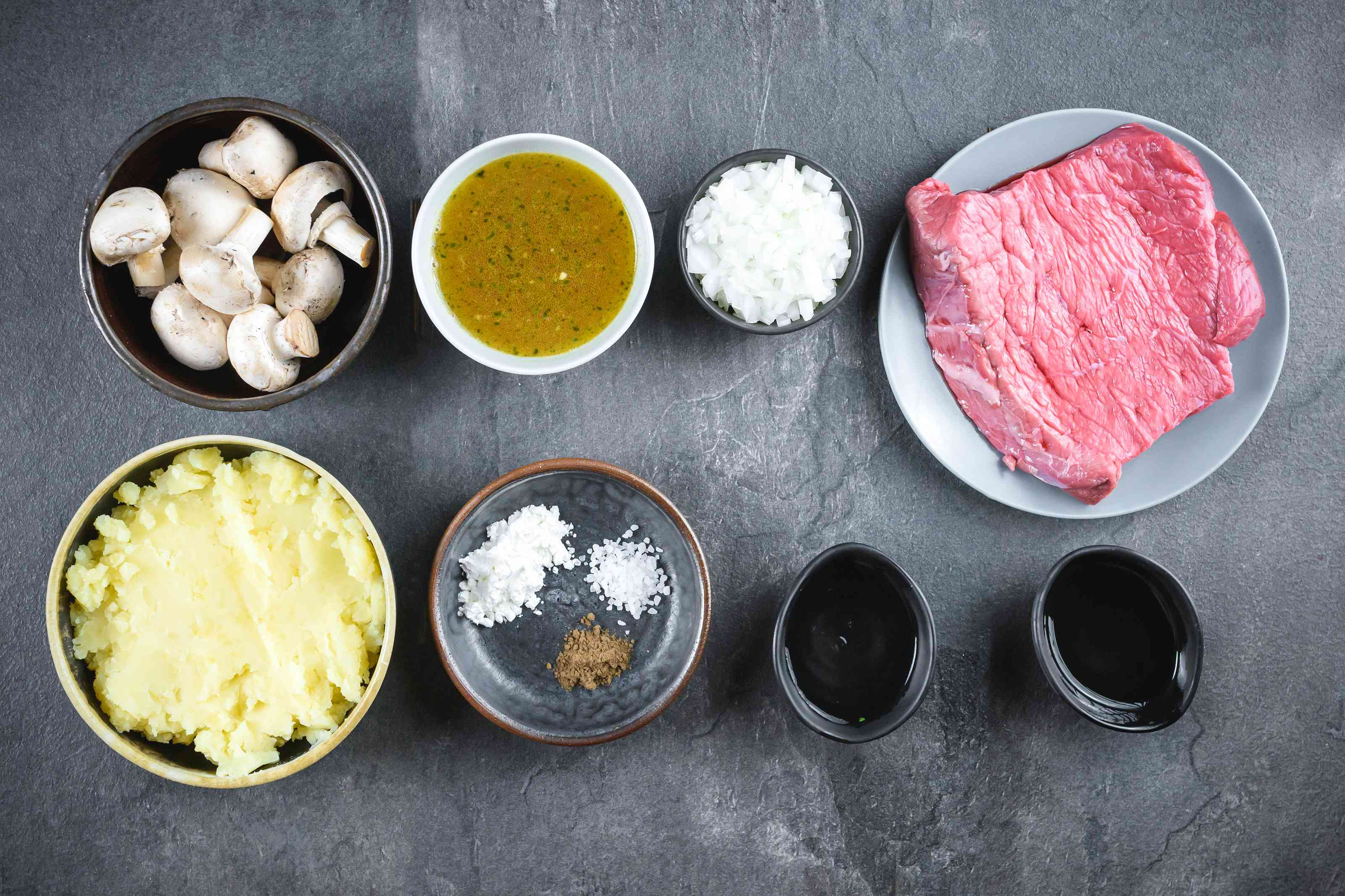 Ingredients for beef tips