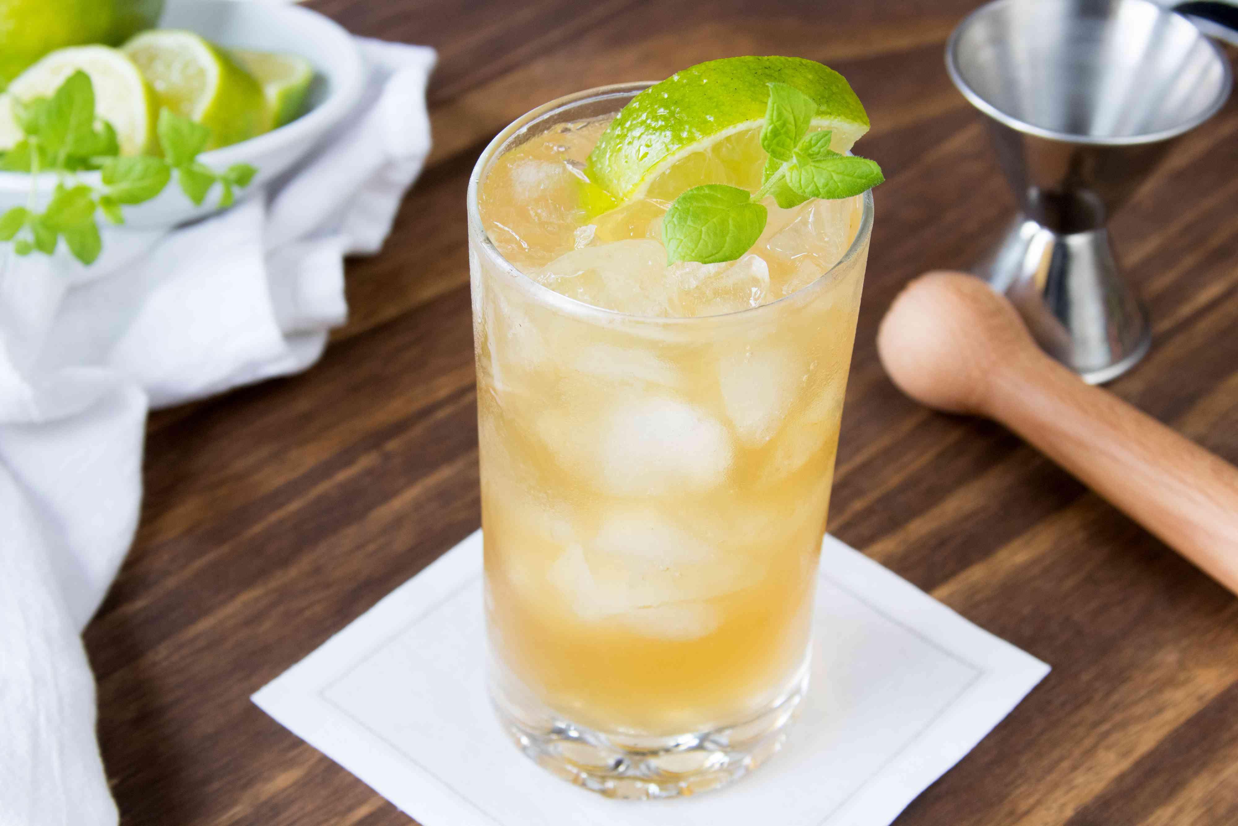 Whiskey Cider Julep Cocktail
