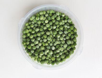 A bowl of frozen peas