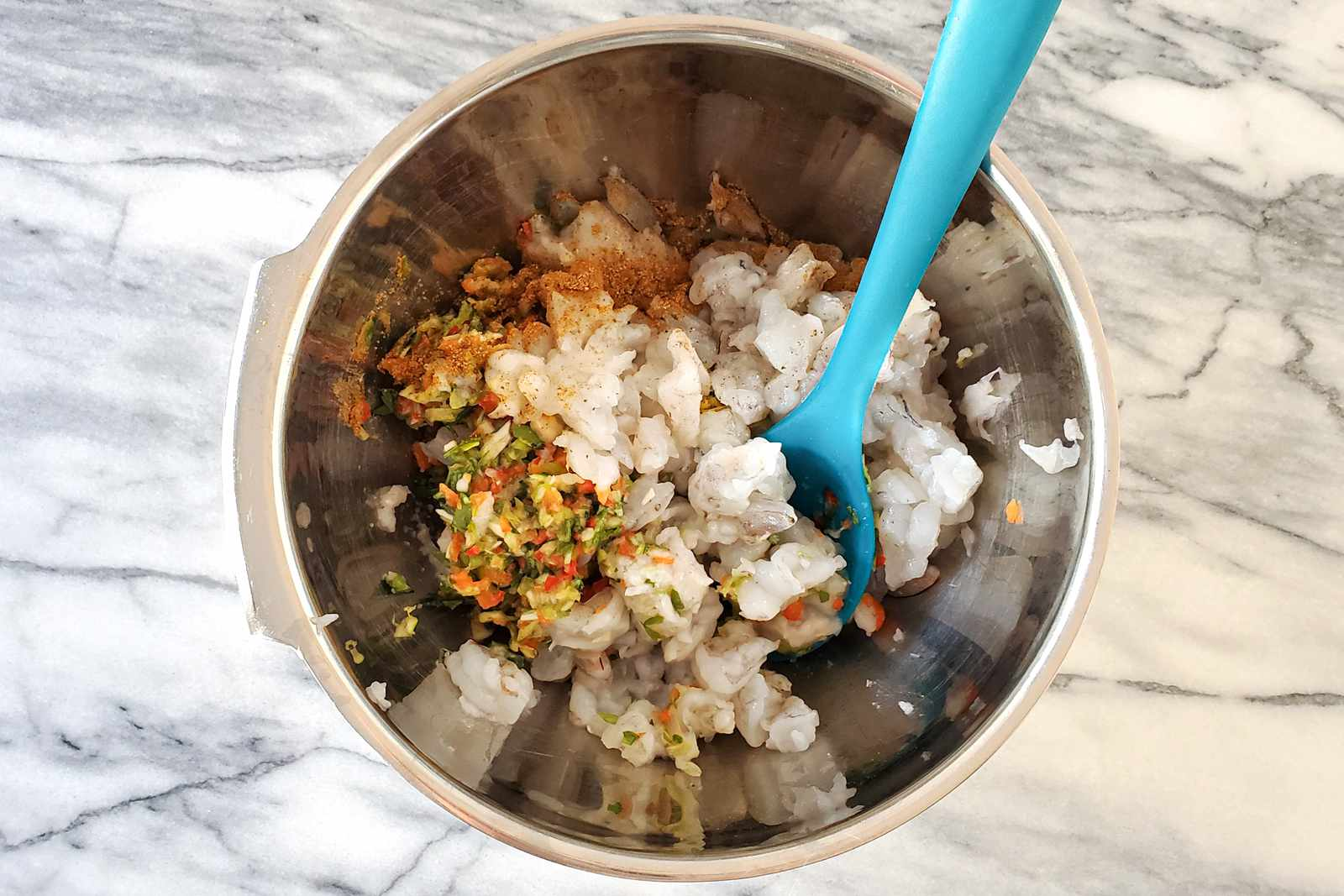 Mixture for shrimp burgers.