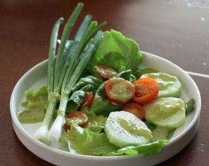 Garlic Scape Dressing on Salad