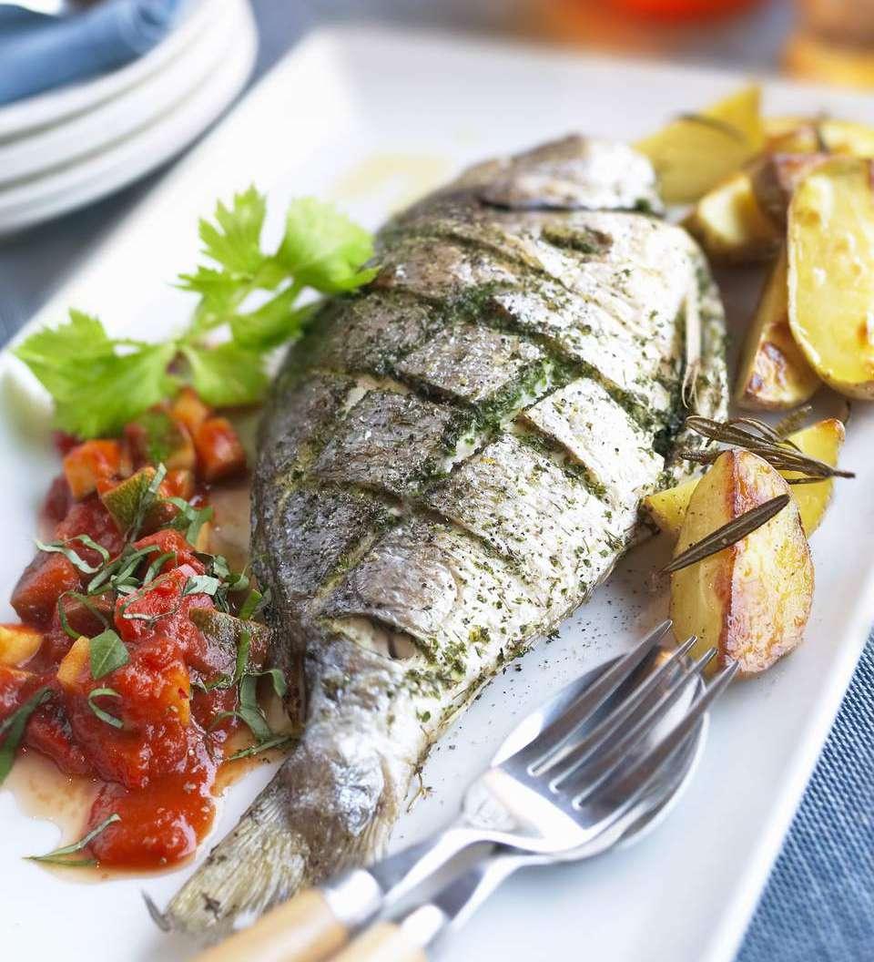 Italian-Style Whole Roasted Fish in Herbs
