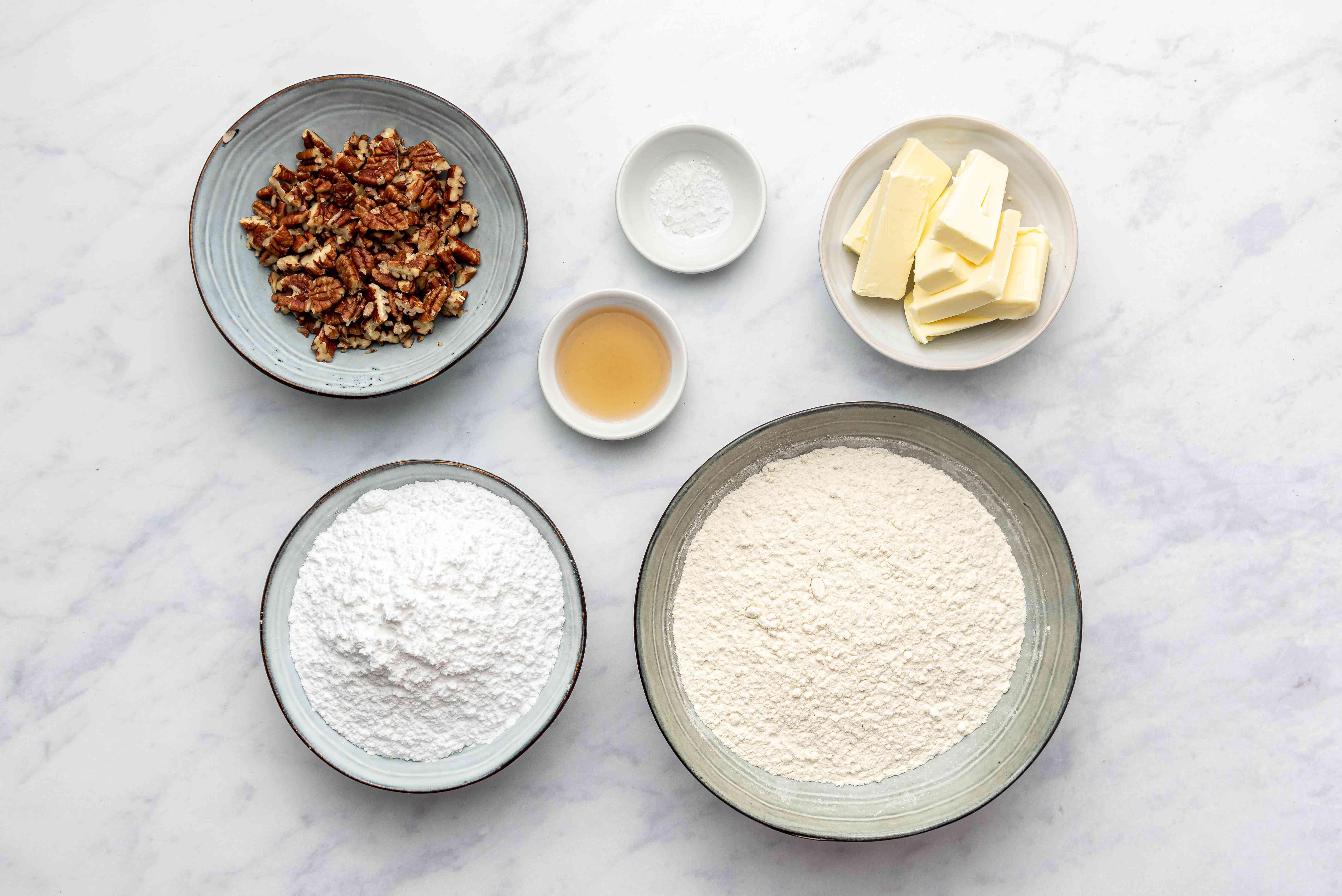 Mexican Tea Cakes ingredients