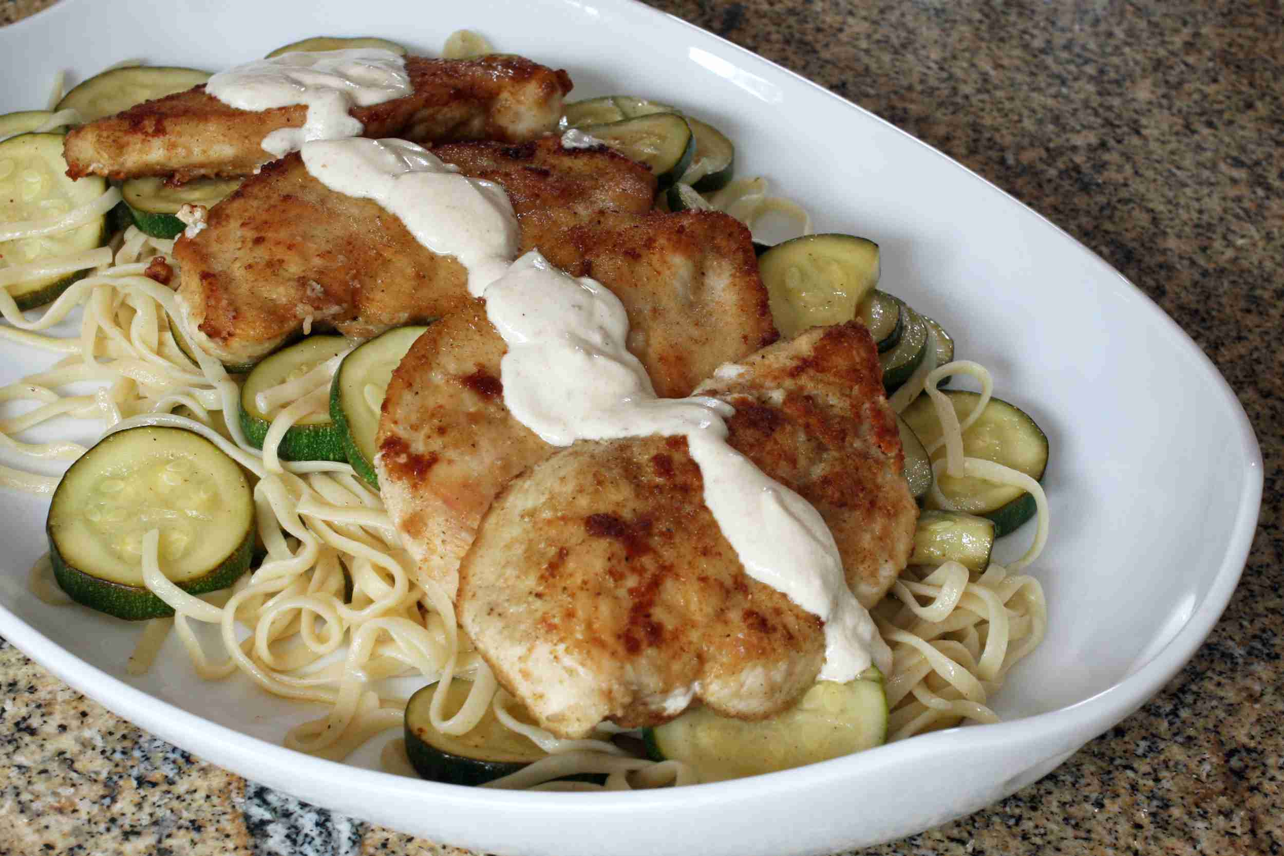Chicken With Zucchini and Noodles