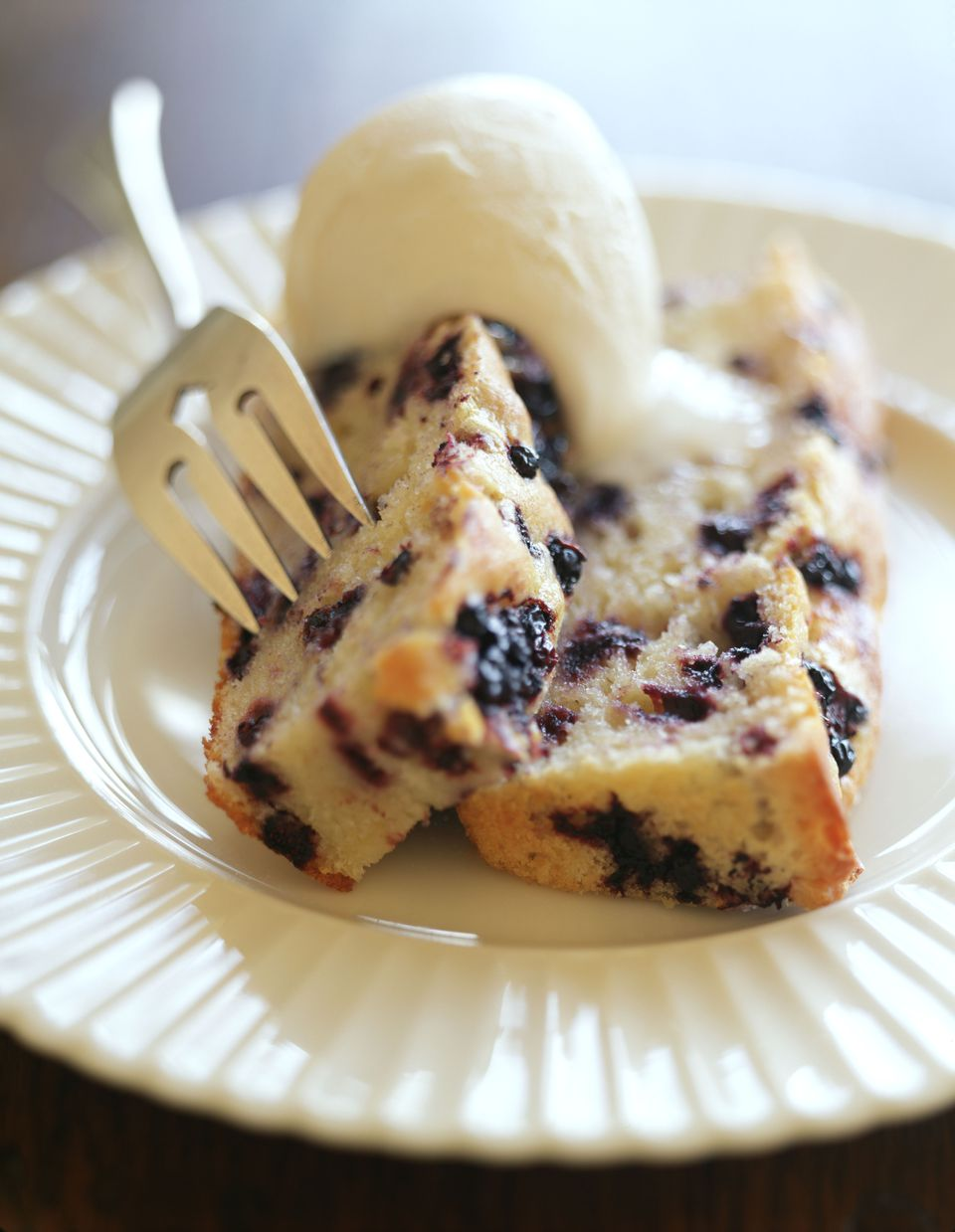 Blueberry poundcake a la mode