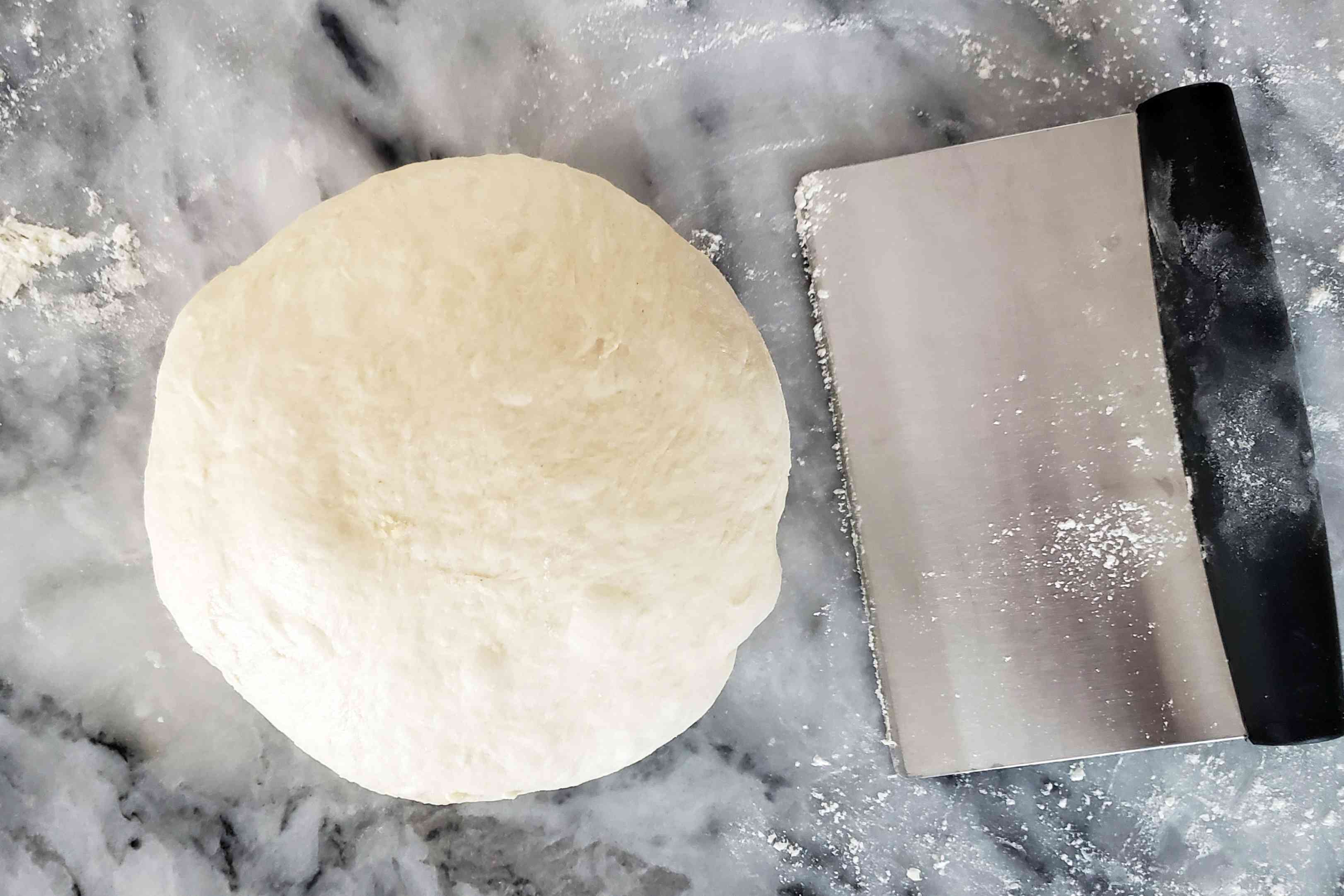Shaping the bread dough for no-knead bread