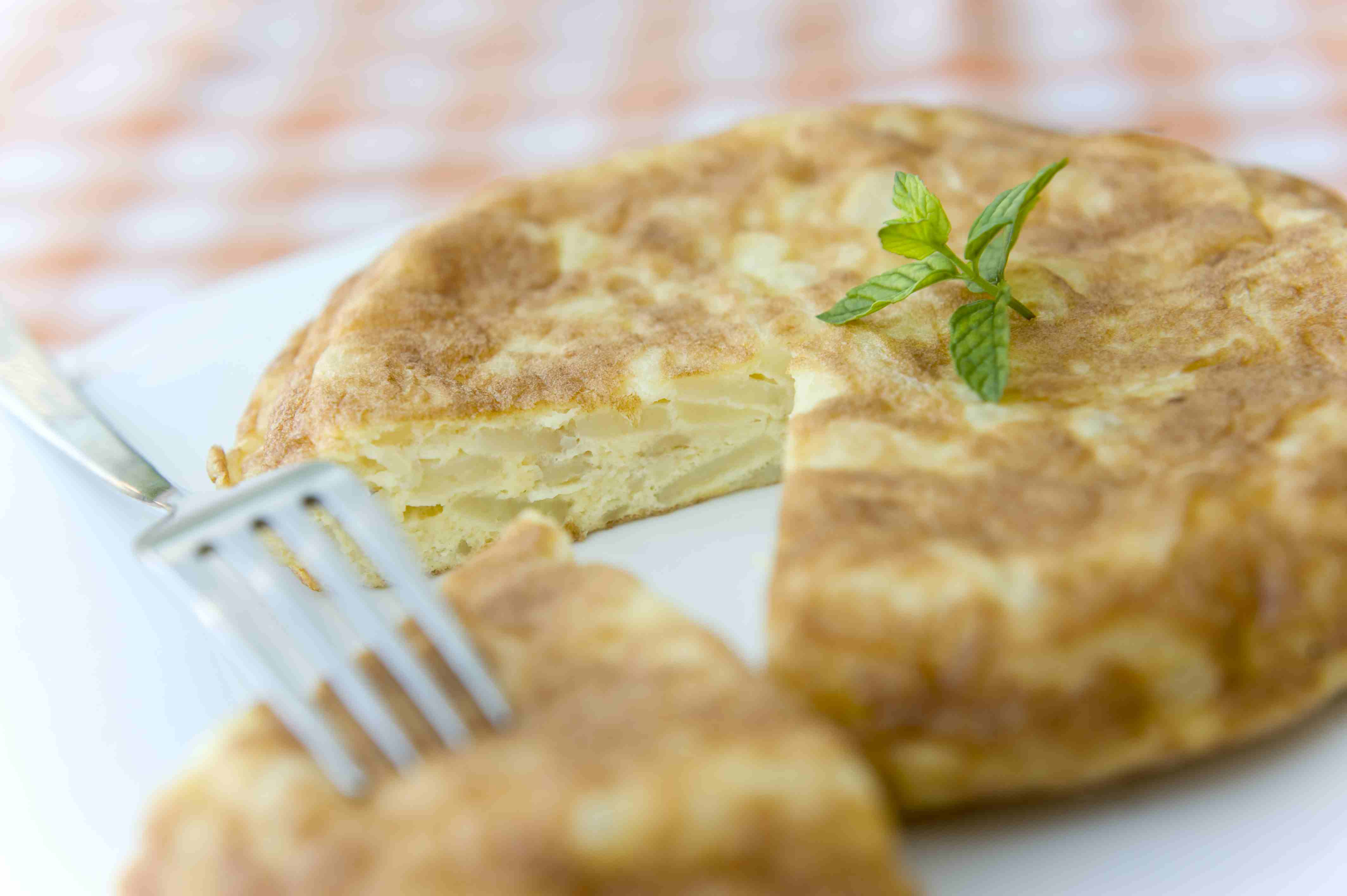 Spanish potatoe and onion omelette