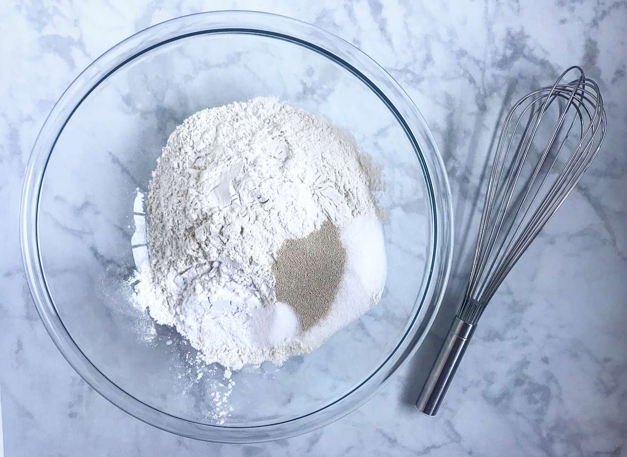 Mix the dry ingredients