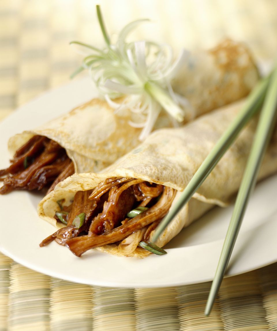Peking duck rolls