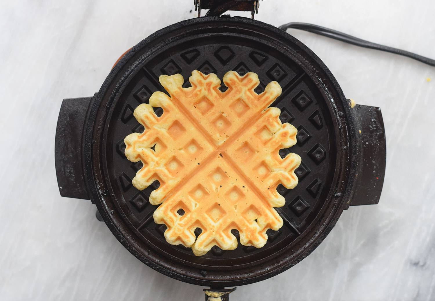 Cook the waffles
