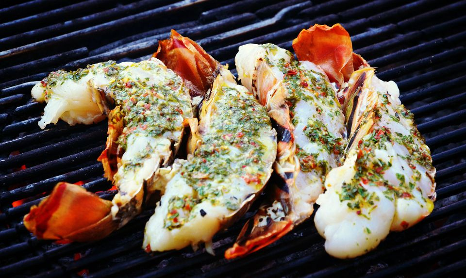 Basil Butter Smothered Lobster Tails