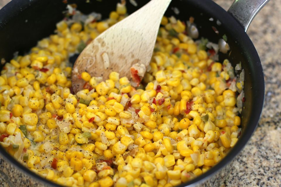 Corn and pepper medley.