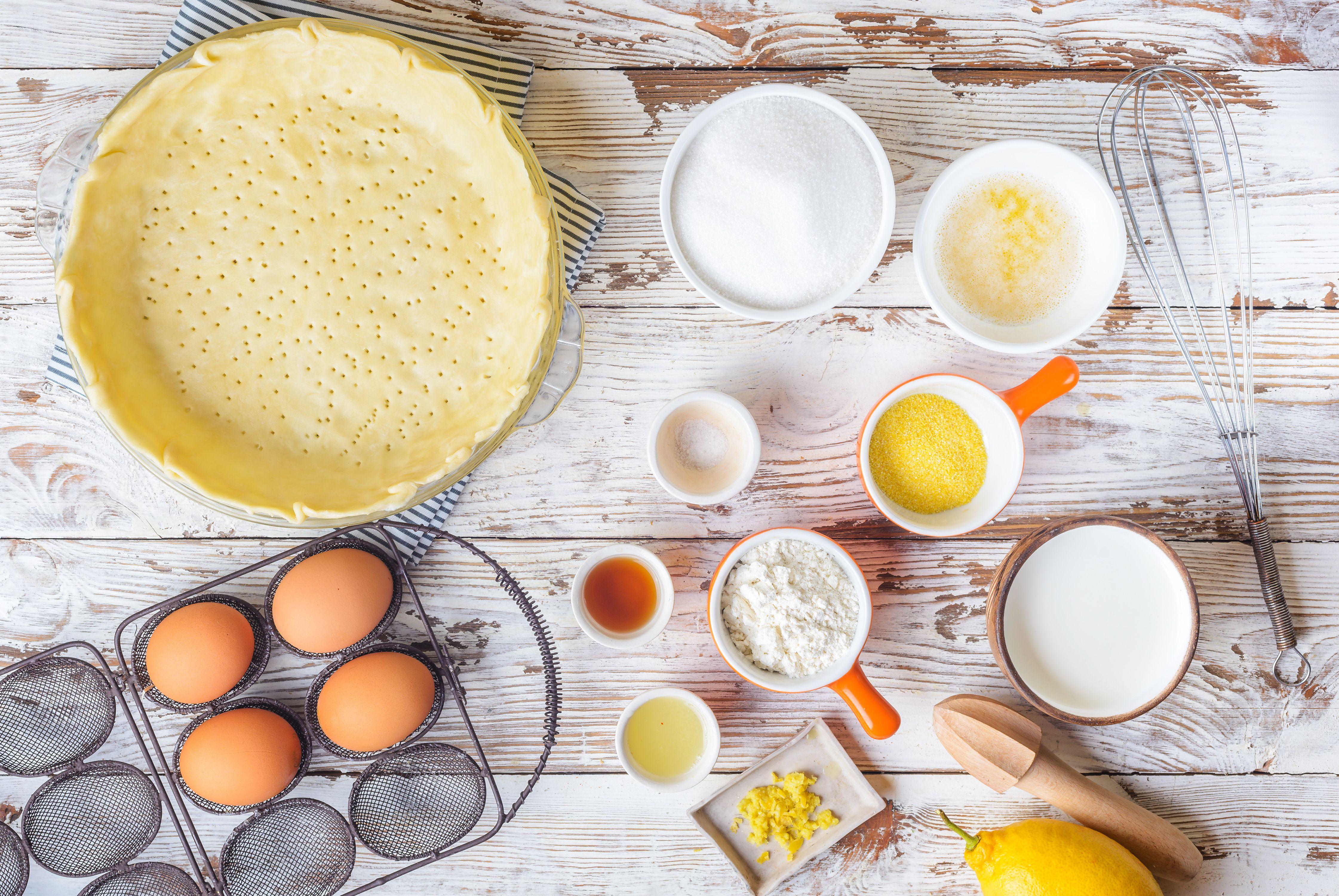 Ingredients for buttermilk chess pie
