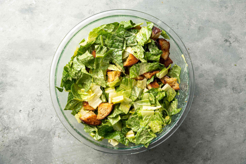 Classic Caesar Salad in a bowl