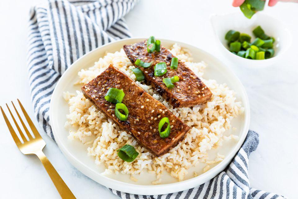 receta china de tofu horneado con cinco especias