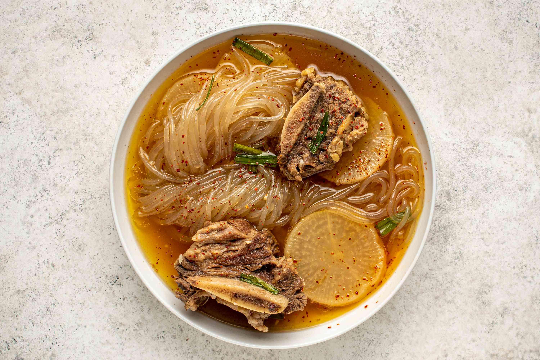 Galbitang: Korean Short Rib Soup in a bowl