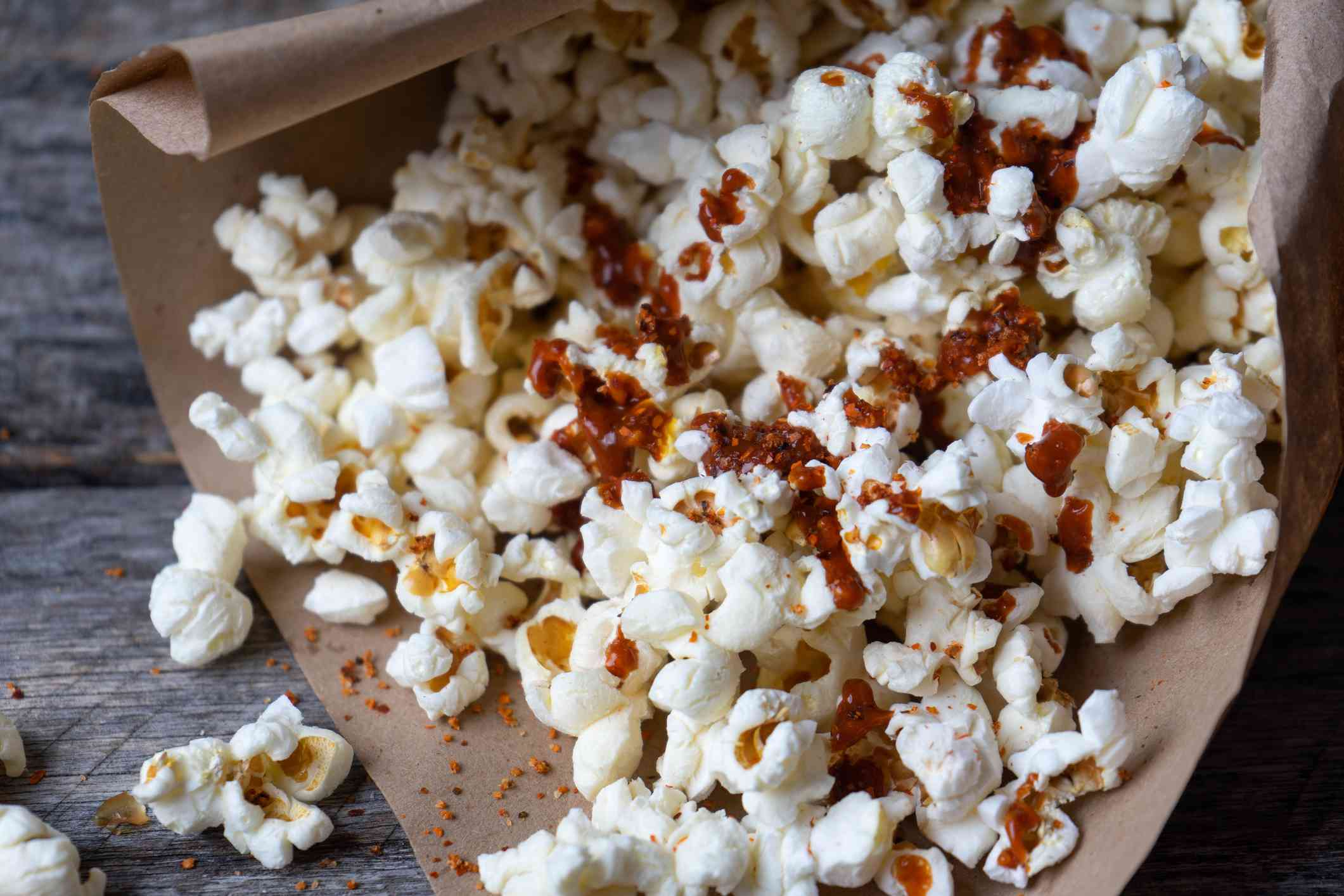 mexican pop corn with hot sauce