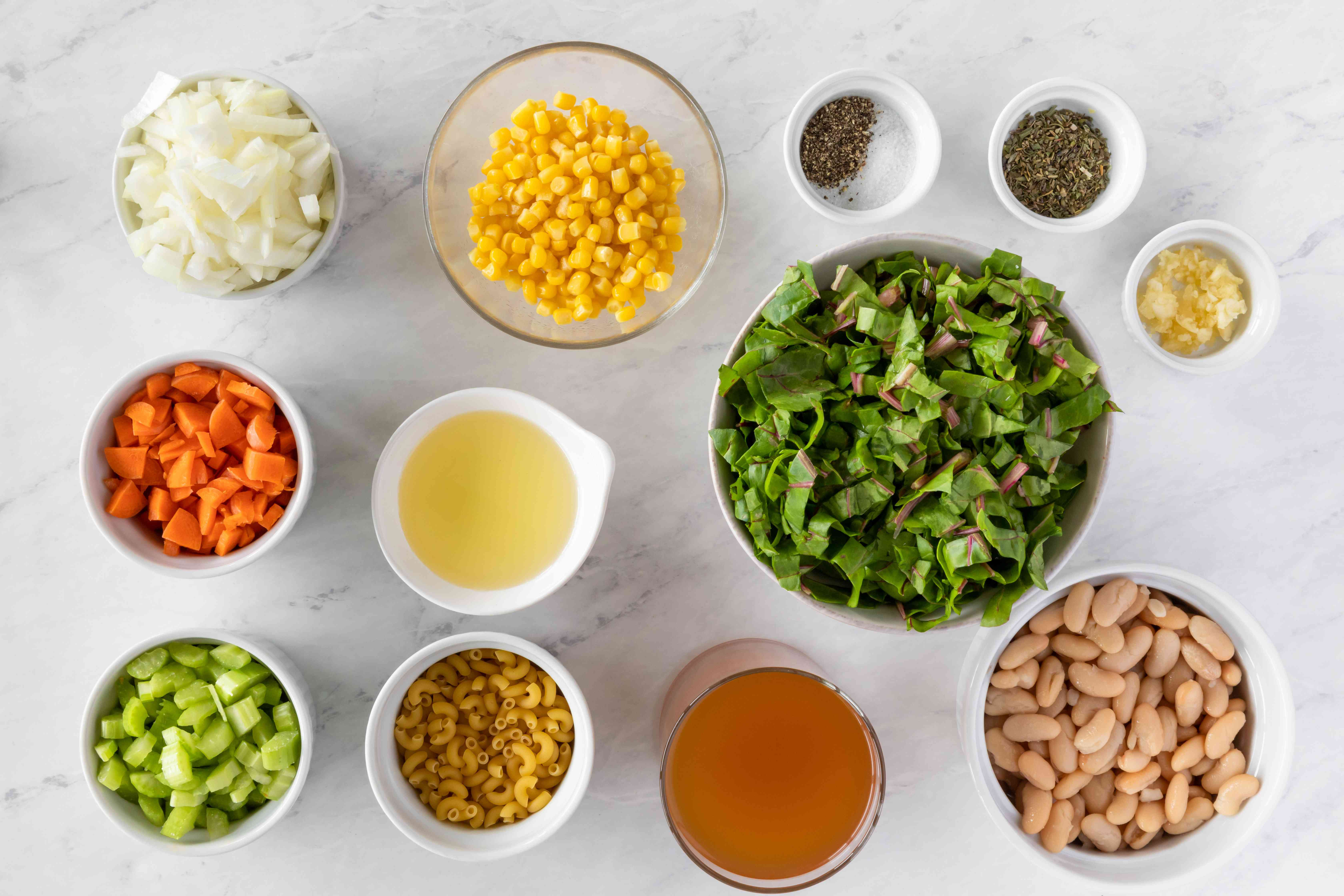 Ingredients for Cannellini White Bean Soup with Swiss Chard Recipe