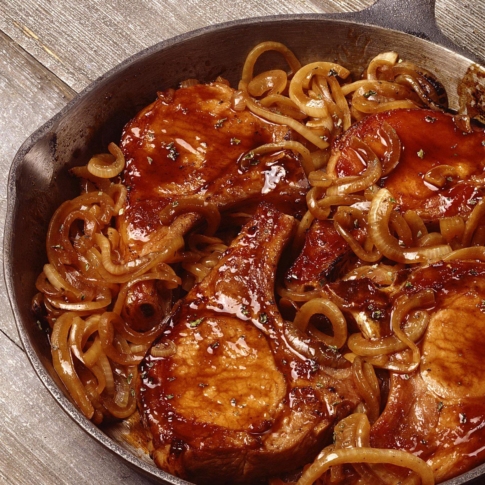 pork chop recipes with caramelized onions Caramelized Onion Smothered Pork Chops