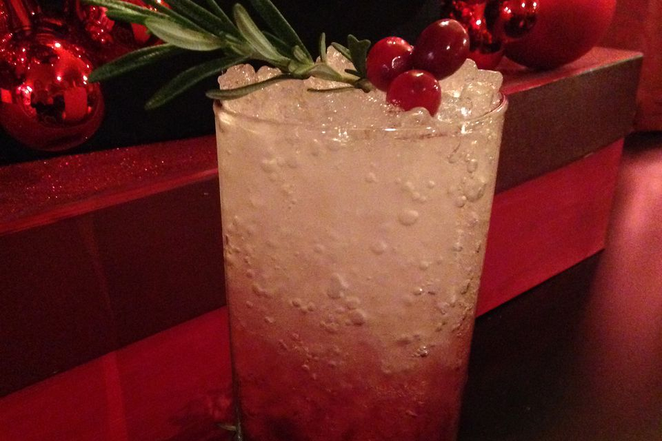 Drink with Cranberry-fig Shrub