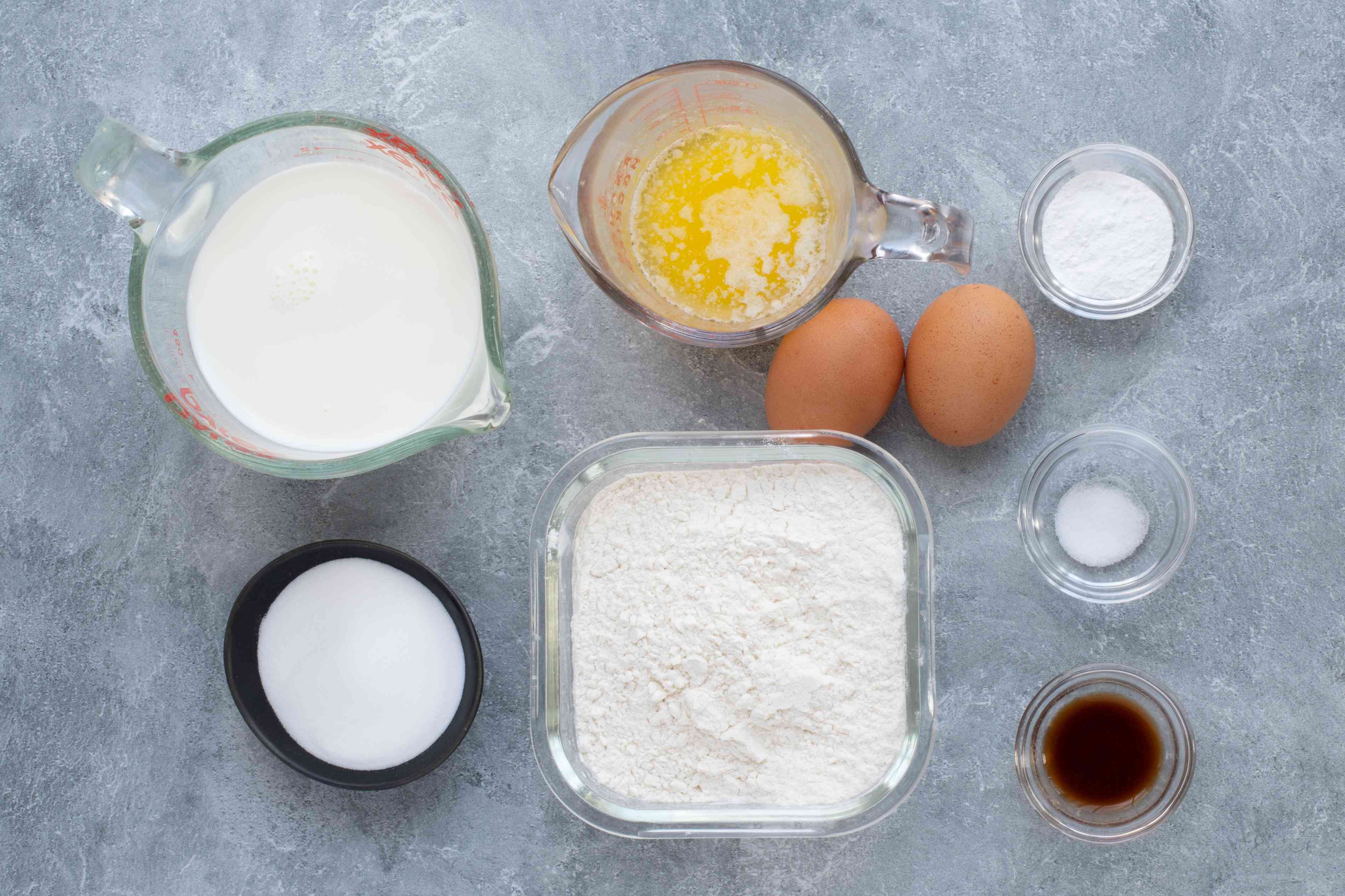 ingredients for classic easy waffles