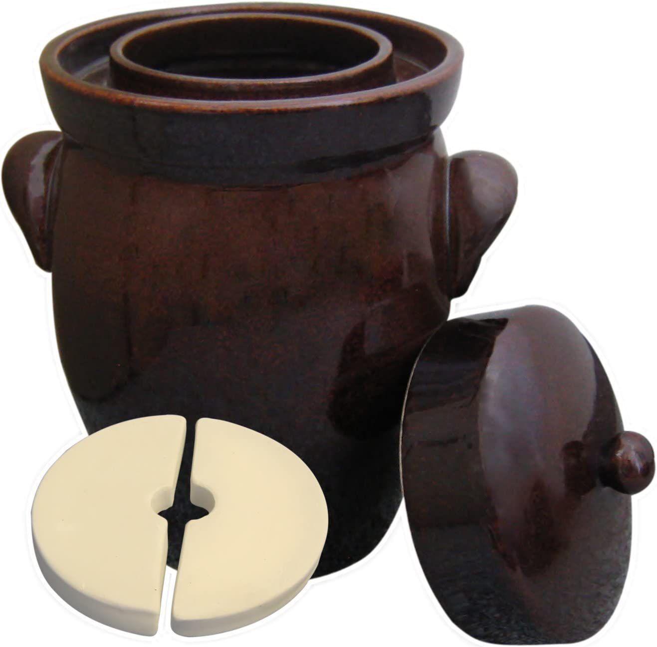 Kerazo 5-Liter German Fermenting Crock